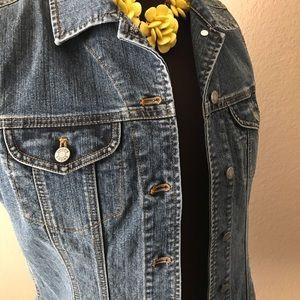 Chico's Denim Jean Vest Size 0 / Small